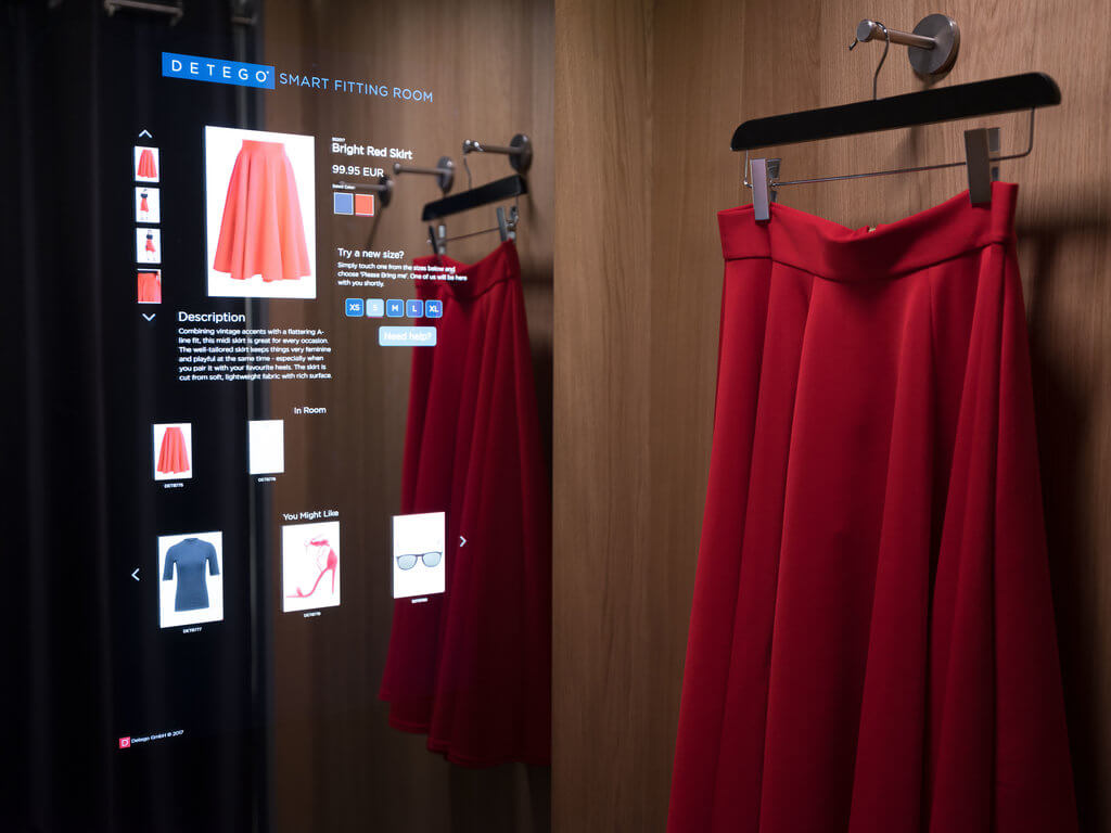 Detego Smart Fitting Room Solution