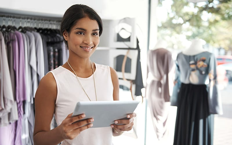 Retail Store Associate using Detego Software in Store