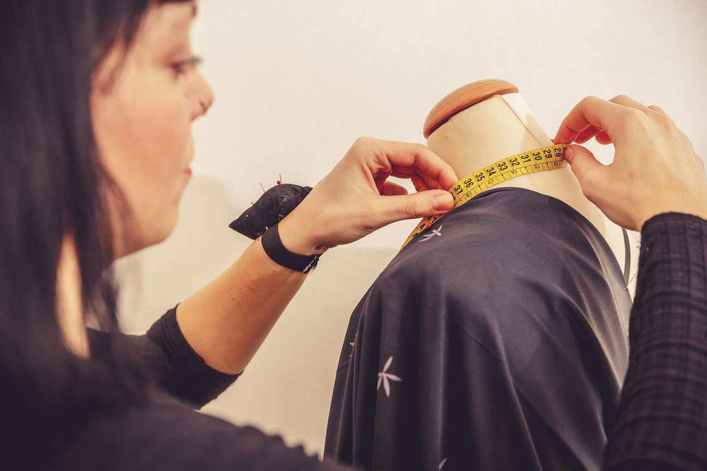 Fashion Designer Measuring Dress Form