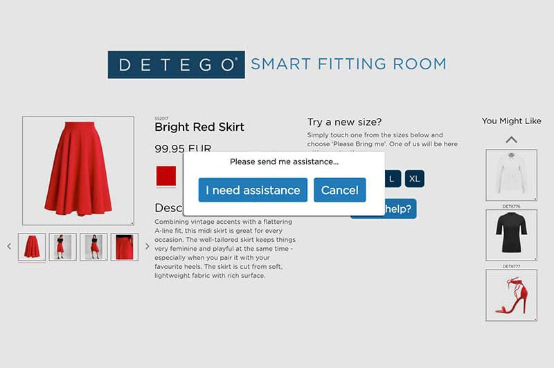 Detego Smart Fitting Room Display