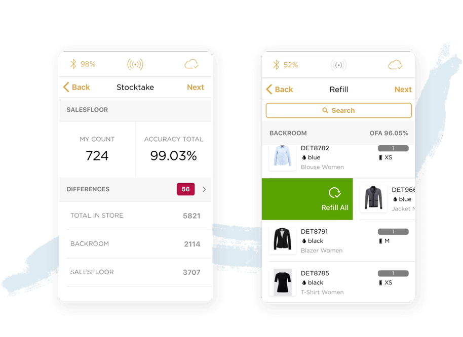 Detego Store application screenshots