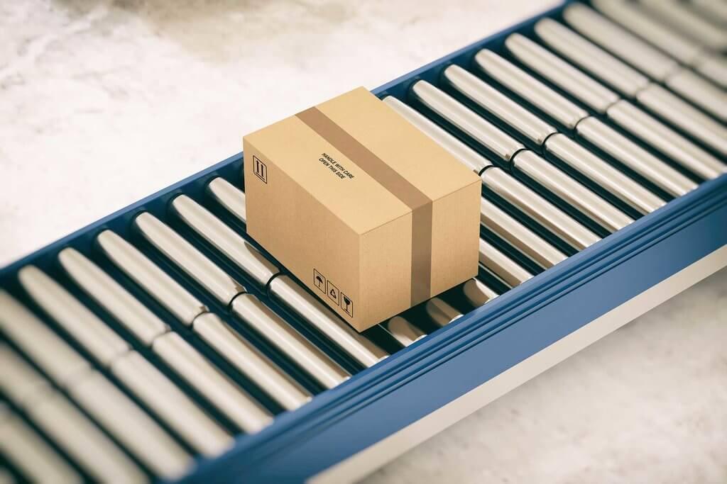 Supply Chain Box on Conveyor